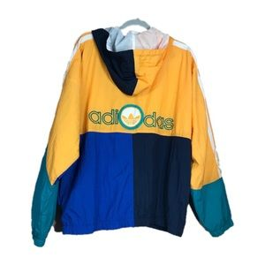 Vintage Adidas 3 Stripes Multicolor Jacket Size L